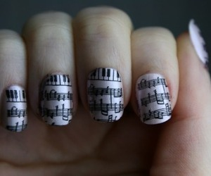 nails, music, and notes image
