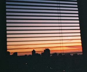 sky, window, and sunset image