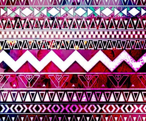 wallpaper, pink, and aztec image