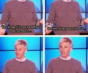 food, ellen, and funny image
