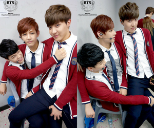 v, bts, and jung kook image