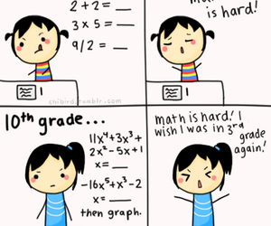 math, school, and funny image