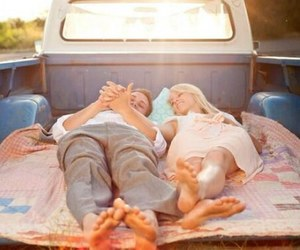 couple, feet, and romantic image