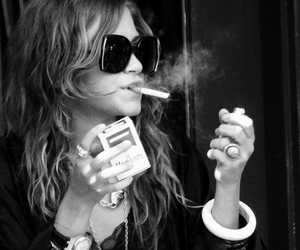cigarette, olsen, and smoke image