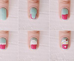 nails, cupcake, and fashion image