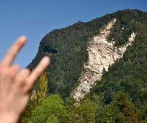 rock, hand, and mountains image