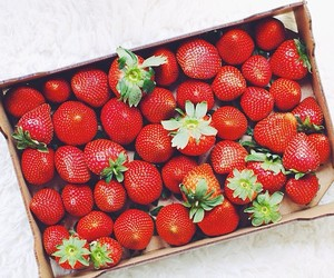 berries, strawberry, and tasty image