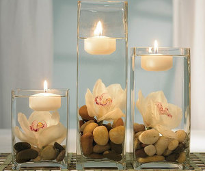 candles, decor, and rocks image