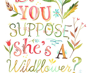 quote and wildflower image