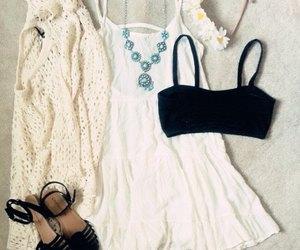 summer, beautiful, and dress image