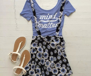 summer, floral, and outfit image