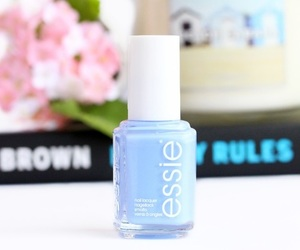 essie, blue, and nail polish image