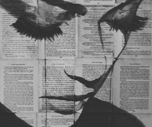 art, book, and eyelashes image