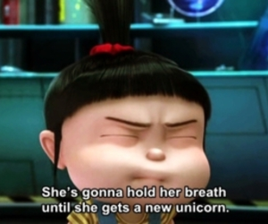 unicorn, despicable me, and agnes image
