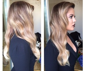 khloe kardashian, blonde, and hair image