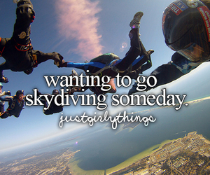 skydiving and want image