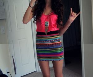 skirt, outfit, and pink image