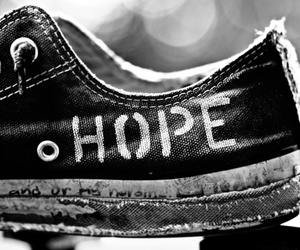 hope, black and white, and converse image