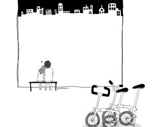 care, cycling, and couples image