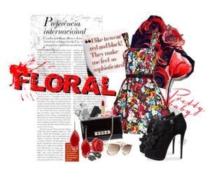 Collage, floral, and girl image