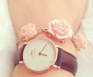 watch, rose, and pink image