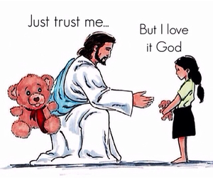 god, jesus, and trust image