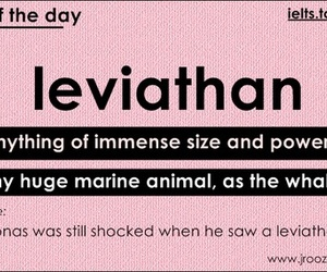 vocabulary, leviathan, and word of the day image