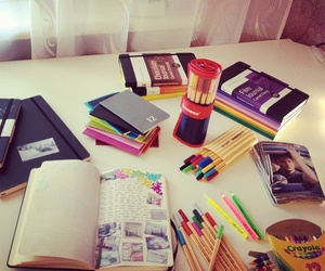 books, crayons, and study motivation image