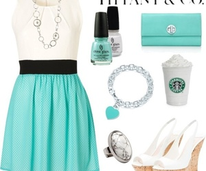 outfit, starbucks, and white image