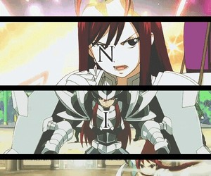 titania, fairy tail, and erza scarlet image