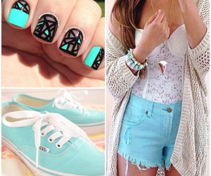blue, fashion, and girl image