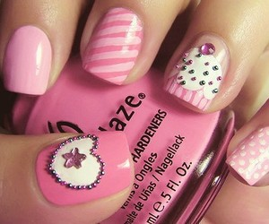 cupcake, nails, and dots image