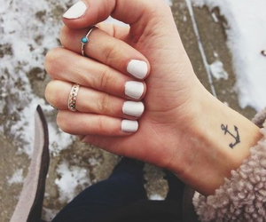 nails, anchor, and tattoo image