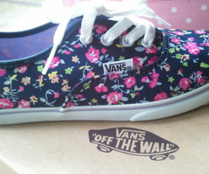 floral, vans, and shoes image