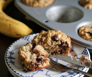 banana, oats, and chocolate image