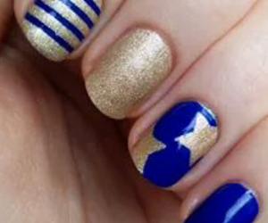 blue, glam, and gold image