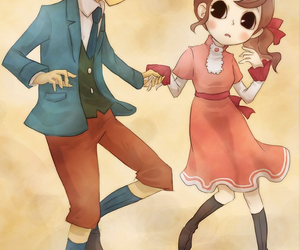 cute couple, clive, and professor layton image
