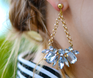 fashion, earring, and girl image