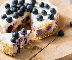 cake, food, and blueberries image