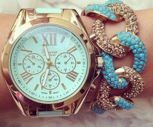 fashion, watch, and blue image