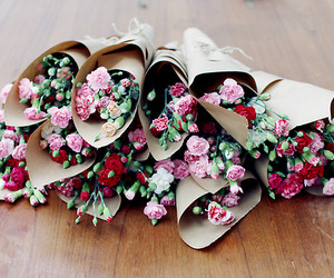 bouquet, red, and pink image
