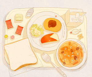 food, art, and anime image