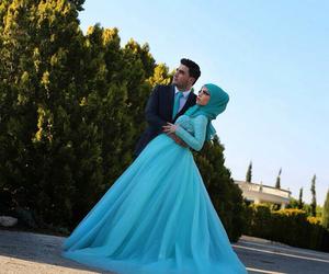 blue, wedding, and زواج image