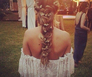 beautiful, hair style, and music image