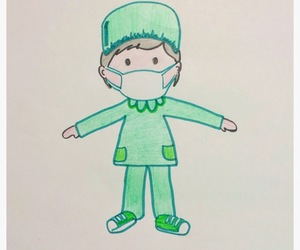cool, green, and scrubs image