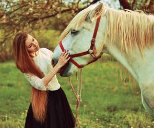 girl and horse image