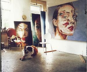 art and dog image