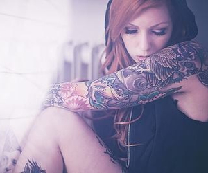 girl, tattoo, and pretty image