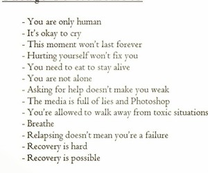 recovery, remember, and you image