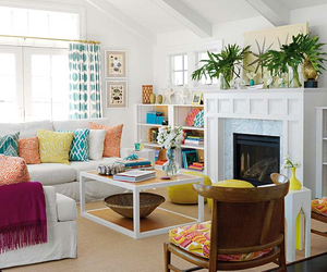 interior, colorful, and living room image